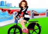 Hipster Girl Bike